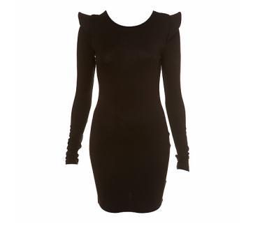 Cosmic Shoulder Black Dress $80