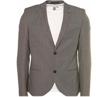 TopMan Grey Pindot Skinny Jacket $280