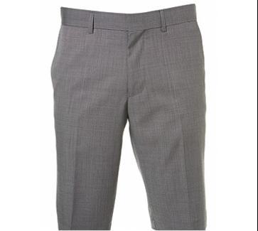 Grey Pindot Tailored Shorts $80