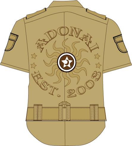 Adonai Safari Shirt Rearview