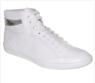 "S***R- White Leather ""Gene"" Sneaker $93"