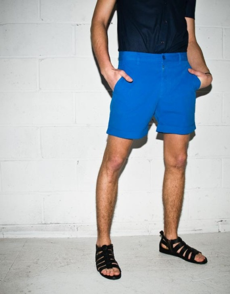 Acne Jeans Strong Blue Pima Shorts $79