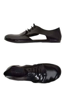 Marsell Black Cut-Out Laced Shoes $395