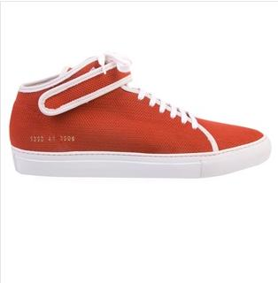 Common Projects Red Mid-Top Sneaker $179