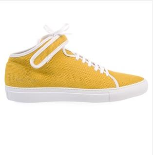 Common Projects Yellow Mid-Top Sneaker $179