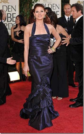 Midnight Blue Taffeta Vera Wang Gown with Fred Leighton Jewels