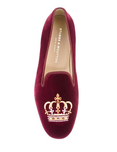 Crown Burgundy Velvet Loafer $395