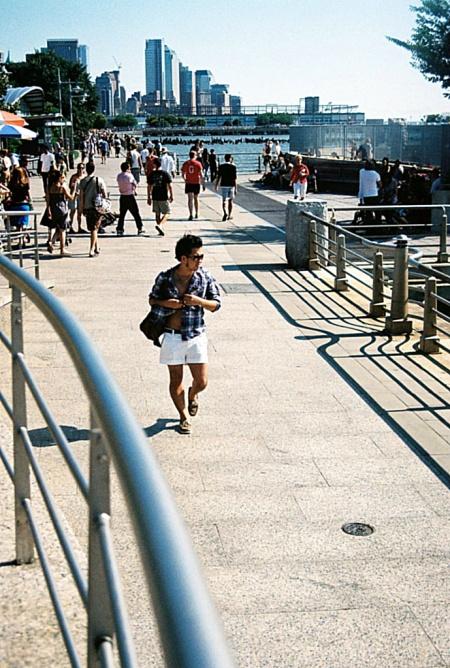 White Shorts on the Board Walk, New York
