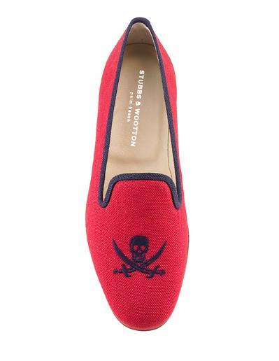 Skull Red Velvet Loafer $395