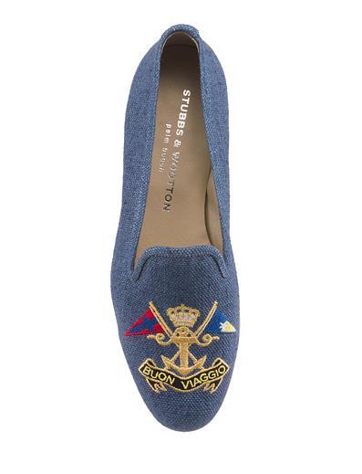 Viaggio & Marine Linen Loafer $395