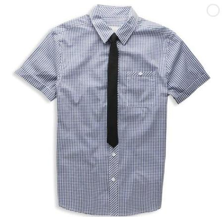 Forever 21 Heritage 1981 Greg plaid shirt with tie $21.90