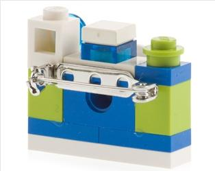 Vicolo Paglia Corta Lego Camera Brooch $57