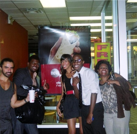 A.Z, Creative Director Reco Winn, One of the Models, Myself and A.Z Assistant all smile as we left Mc Donalds on 6th Ave....ah what a great night!