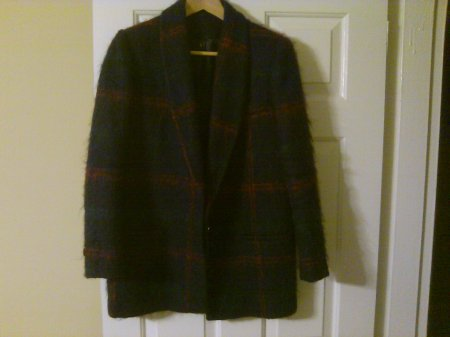 Unknown Label Wool Shawl Collar Blazer $3