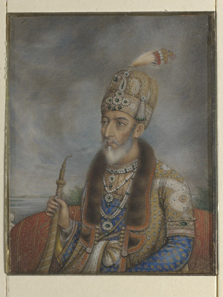 Bahadur Shah Zafar II India (Delhi), Mughal, c. 1850 Watercolors on ivory