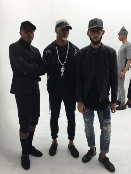 James Field, Michael Ibidapo & Sergio Wonder, after the presentation of the Fall 2016 Menswear collection.